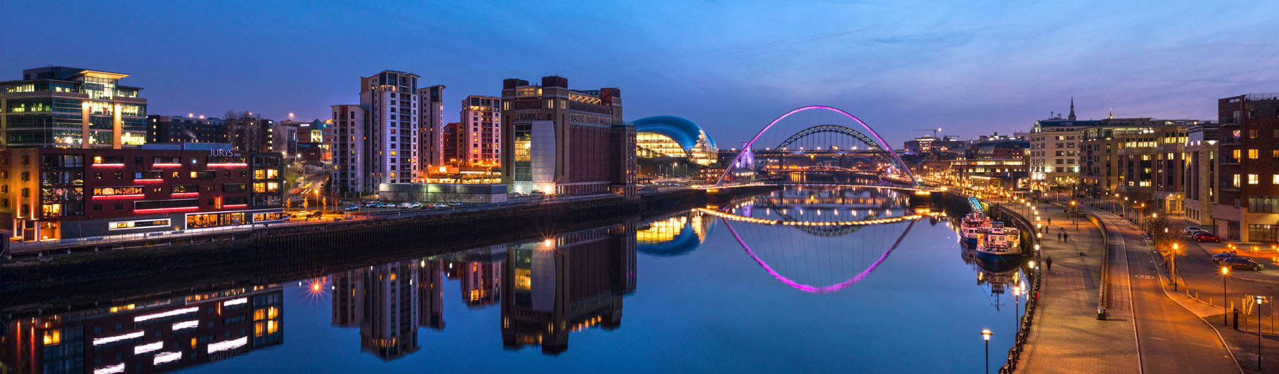 Cityscape of Newcastle upon Tyne