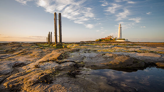 St Mary's Lighthouse Time Lapse